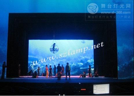 蓝普科技360°旋转LED屏闪耀上海大世界