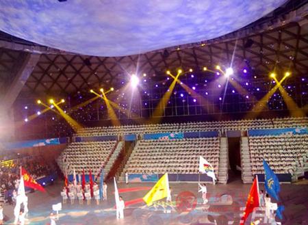 第二届全国智力运动会开幕式 彩熠灯光护航