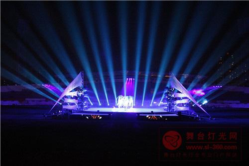 雅江光电绿色照明辉映花都区运动会开幕式