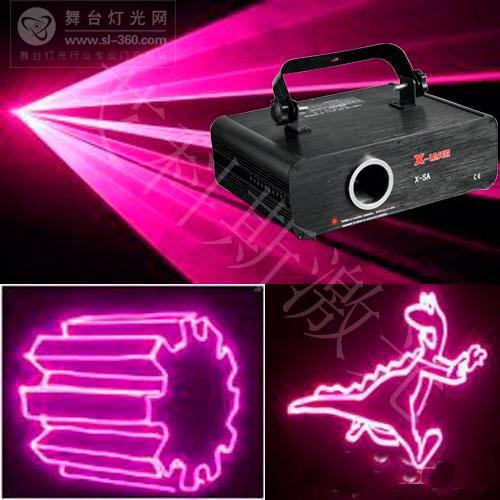 x-laser灯光推荐 玫红动画光束舞台激光灯