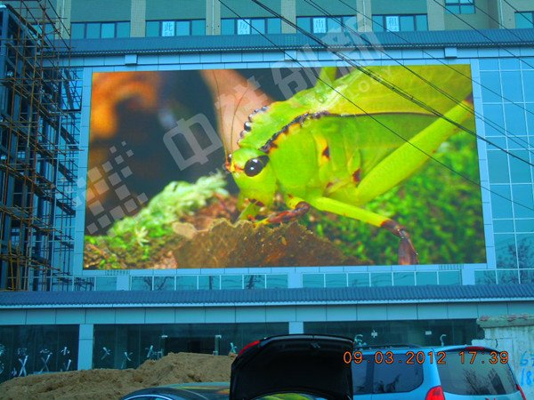 中祥创新200�OLED显示屏演绎古都西安之流光溢彩