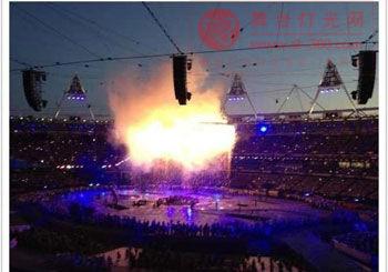 奥运开幕式进行彩排 绚丽舞台超震撼烟火